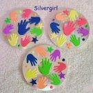 Handmade Drink CD Disc Coasters Set of 3 OOAK Hands