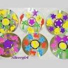 Drink CD Disc Coasters Set of 6 OOAK Tropical