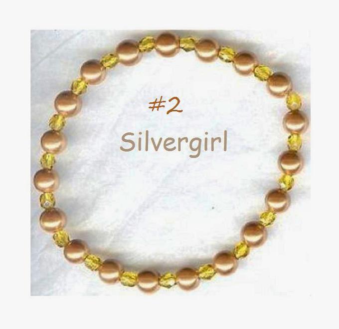 Magnetic Pearlized Gold Glass Beaded Bracelet