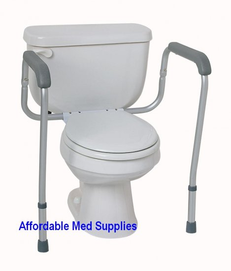 New Adjustable Toilet Safety Frame Hand Rails