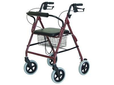 New Lightweight Rollator Walker - 300 Pound Weight Capacity