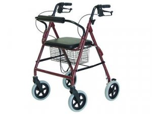 New Lightweight Rollator Walker - 300 Pound Weight Capacity