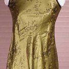 pretty green satin foral sheath dress Possessed Juniors size 7