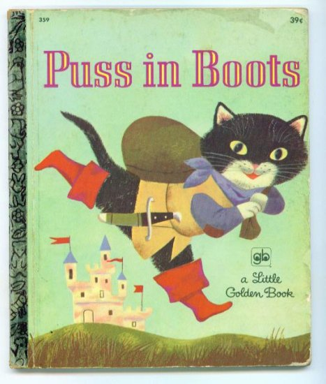Vintage Little Golden Book ~ Puss in Boots