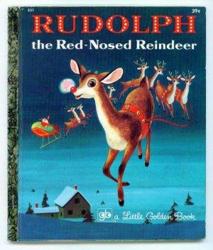 Vintage Little Golden Book RUDOLPH Red-Nosed Reindeer
