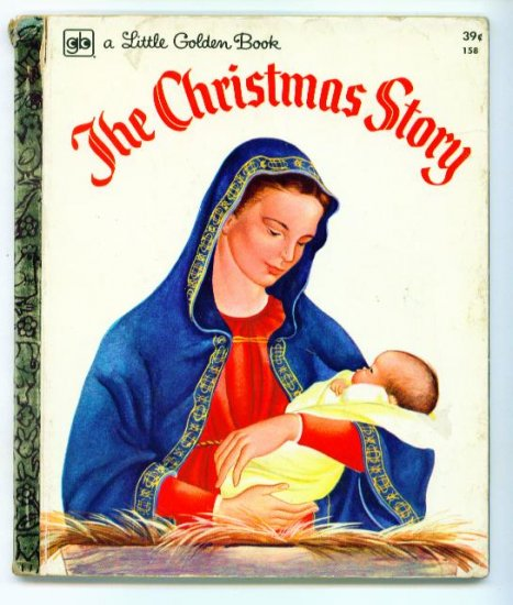Vintage Little Golden Book CHRISTMAS STORY Eloise Wilkin