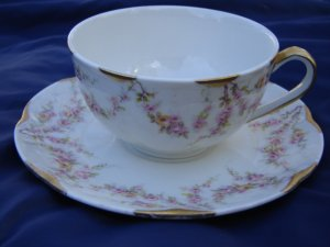 HAVILAND Varenne NY tea cup and saucer