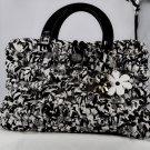 Handmade bag b/w crochet