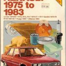 Chilton's Renault 1975 - 1983 Repair & Tune-up Guide Manual