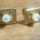 Vintage Cufflinks MOP / Goldtone Elegant Design