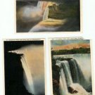 Lot of 3 - 1930s Color Postcards Niagra Falls