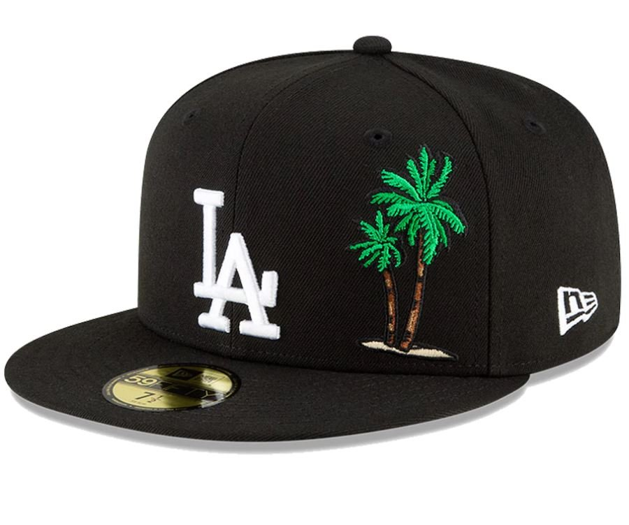 Los Angeles Dodgers 4039704 New Era Local Icon 59FIFTY Fitted Hat - Black