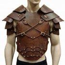 Armor Viking Warrior Harness Shoulder Pauldrons Medieval Men Costume Vintage
