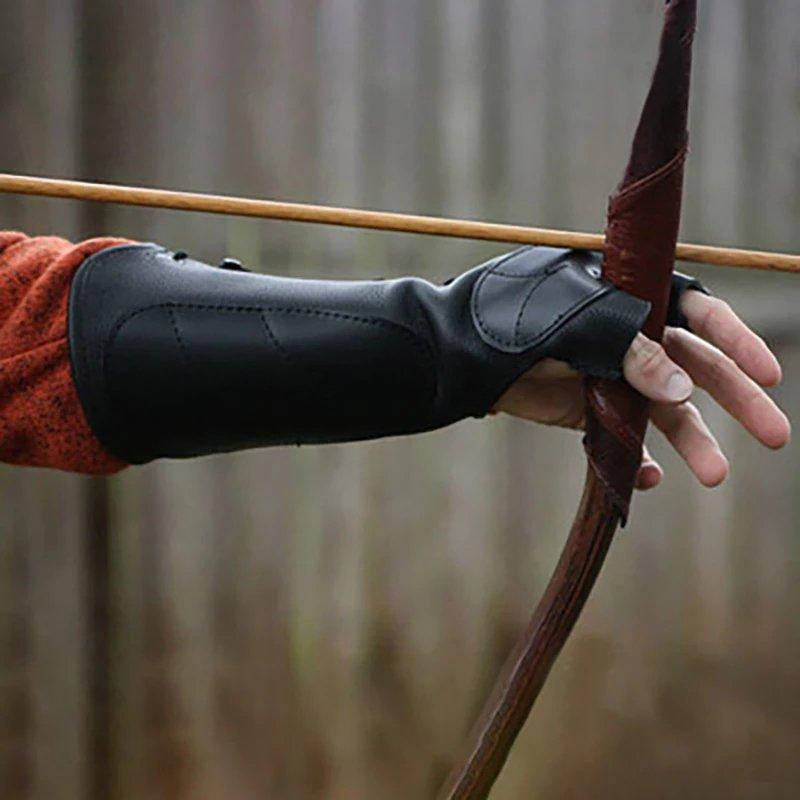 Medieval Renaissance Archer Archery Vambrace Gauntlet Shooting Glove Larp Hunter