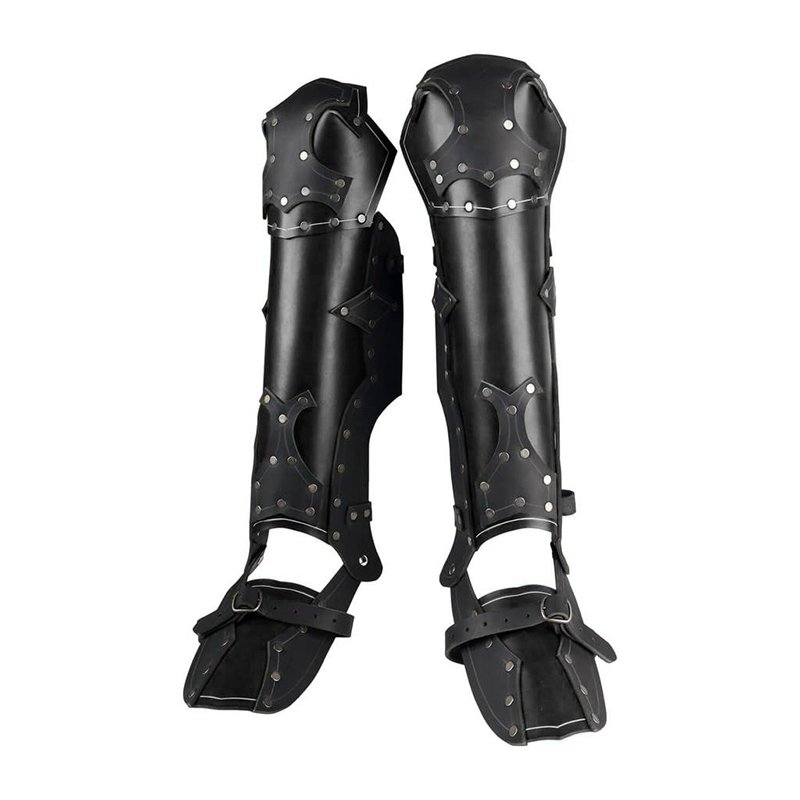 Pair Greaves Medieval Leg Calf Armor Protection LARP Viking Samurai Ranger