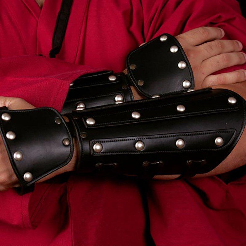 Medieval Armor Gauntlet Spike Gloves Archer Samurai Leather Viking Gloves