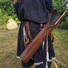 Waist Belt Archery Arrow Holder Medieval Leather Holster Bow Larp Hunt Bag