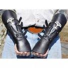 Leather Bracers Armor Wristbands Bracelet Medieval Viking Accessories