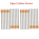 24Pcs Pure Carbon Crossbow Arrows 15inch Outdoor Archery Shooting Crossbow