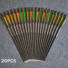 20pcs Crossbow Bolt Carbon Arrows 400 Spine OD8.8mm 20 Inches For Archery