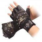 Biker Gloves Skull Half Finger Gloves Driving Motorcycle Gloves