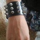 1 Pair Spike Rivet Studded Goth Bracelets PU Leather Unisex Bracelets Medieval