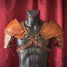 Medieval Accessory Shoulder Armor Warrior Made From Faux Leather Adult Unisex