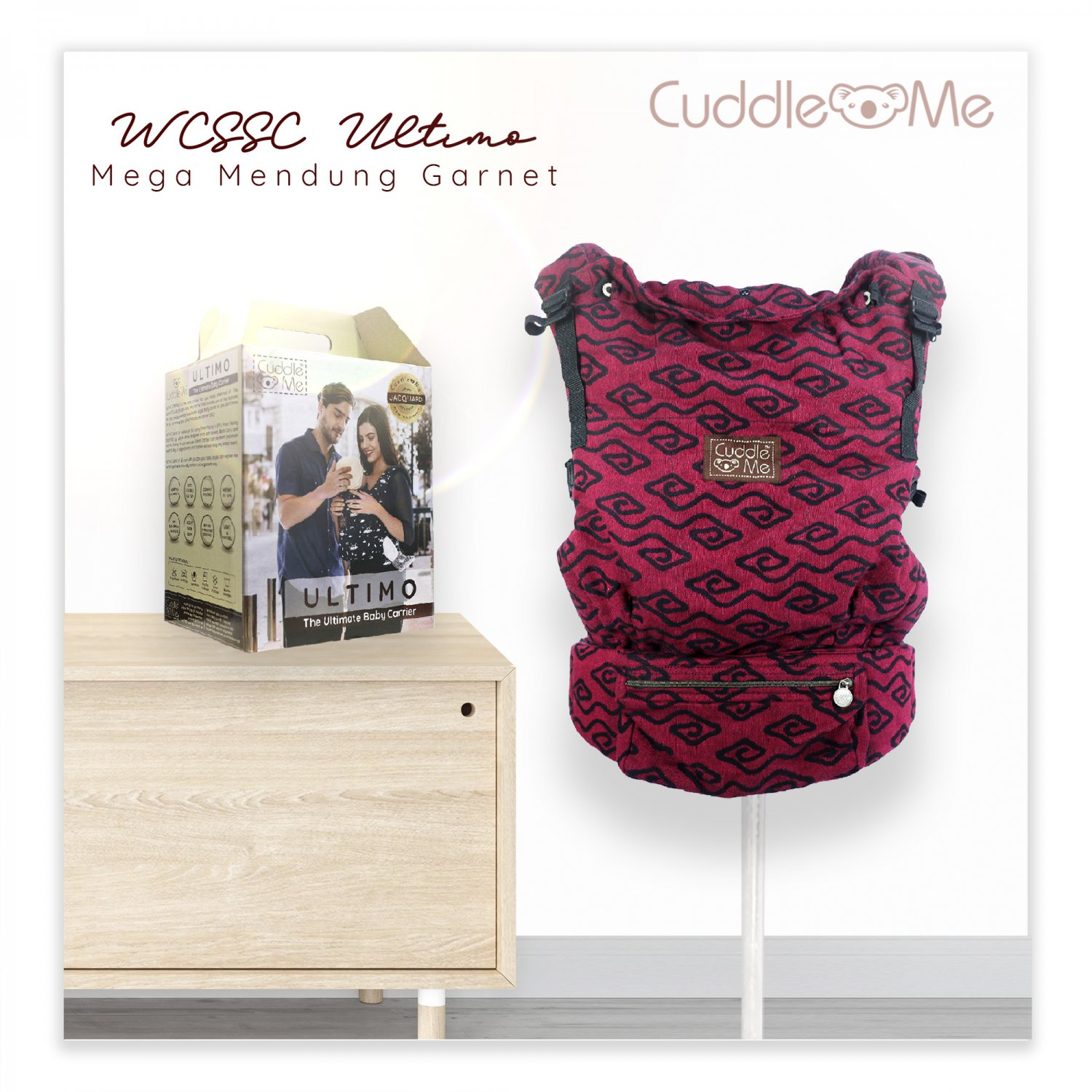 WCSSC Jacquard Ultimo Carrier Cuddle Me   WOVEN Wrap convert to SSC   NB to toddler   Mega Mendung