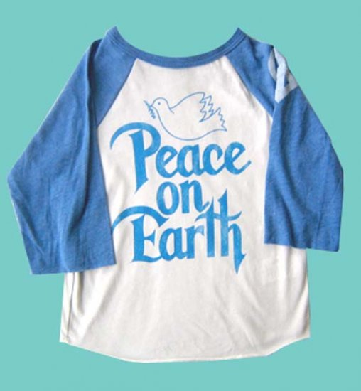 Funktion Blue/White PEACE Vintage Hippie Toddler Tshirt