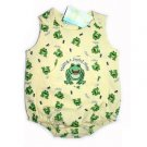"Happy Happy Halo Yellow ""Making a Joyful Noise"" Frog Onesie Bubble"