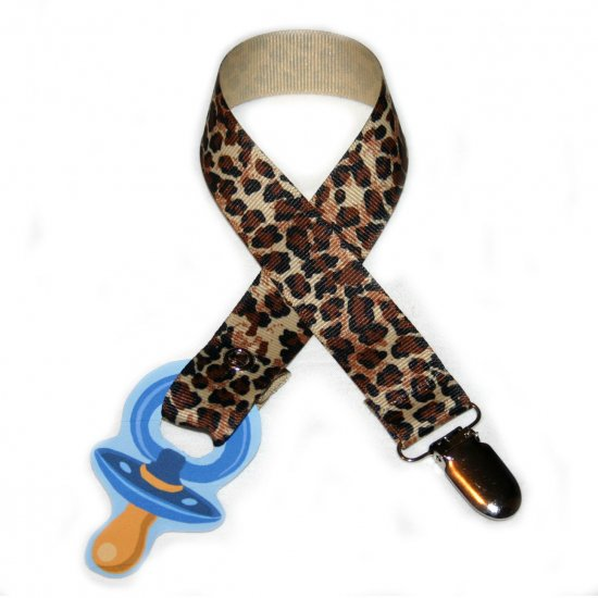 Snigglefritz Cheetah Pacifier Holder PACI CLIP with STYLE!!