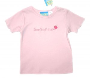 "Happy Happy Halo Pink ""Bless this Princess"" Infant Tee"