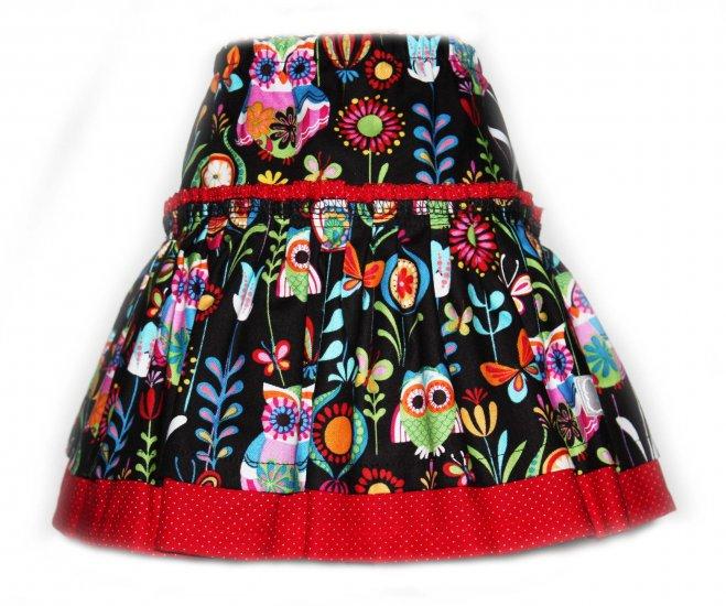 Girls Red SOHO OWL Skirt by Snigglefritz - Size 3T