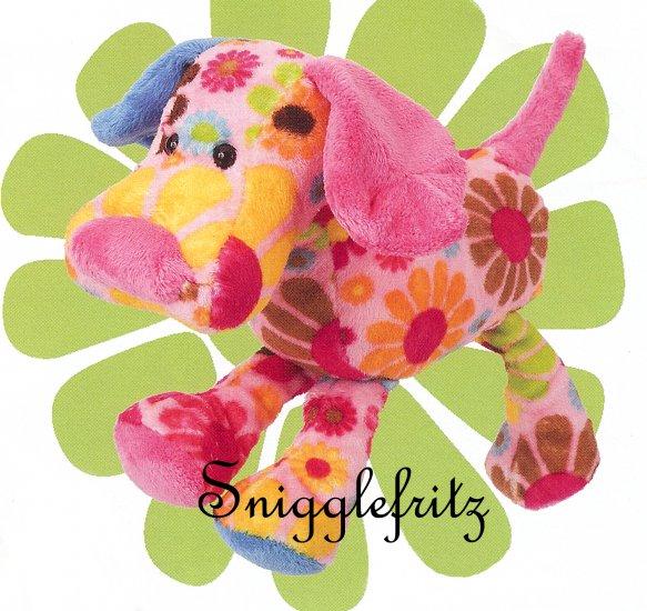 Douglas Hippie THELMA Pink Flower Dog - SO SOFT!!!
