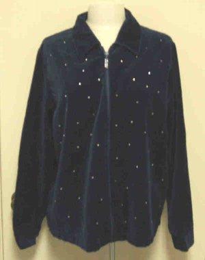 Quacker Factory Sparkle & Shine Jacket Sz Large L