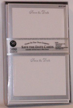 100 GARTNER SAVE the DATE CARDS & ENVELOPES ~ WEDDING PARTY  Occasion