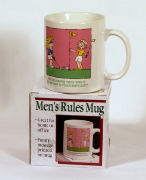 "Comical Ceramic ""Do we have to count"" Golf Coffee Cup Mug"