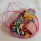 Pink Play Purse with 120 Hair Accessories Toddler - New