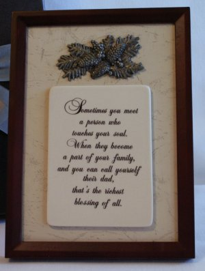 Adoptive Dad Step-Father Plaque Frame Keepsake Gift  New in Box