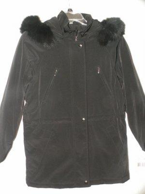 Liz Claiborne Black Anorak Jacket Coat Detachable Hood Size XS New with Tags