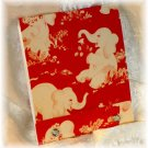 OOAK Vintage Ephemera Matchbook Style Mini Sketch or Notebook, 1950's Elephants; made by Ms. J