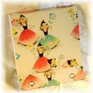 OOAK Vintage Ephemera Matchbook Style Mini Sketch or Notebook, 1950's Flower Girls; made by Ms J