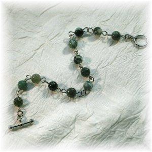 NOW 20% OFF: Green Rainforest Jasper Bracelet; made by Ms. J jewelry