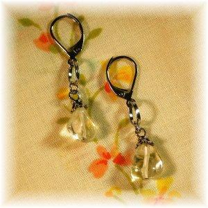 OOAK Citrine Nugget Earrings; made by Ms. J jewelry