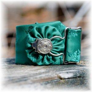 NOW 25% OFF: Green Vintage Men's Tie Wrist Cuff Bracelet; made by Ms. J jewelry