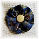 NOW 25% OFF: Blue Vintage Fabric Flower Hairdooey (hair clip); made by Ms. J