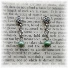OOAK Green Freshwater Pearl Earrings; made by Ms. J jewelry
