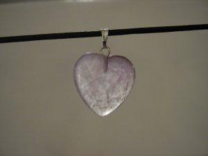 """Unique 3/4"""" Amethyst Heart Pendant Necklace Quartz 3573"""