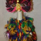 MARDI GRAS LADY !! Lawn Goose Clothes Outfit