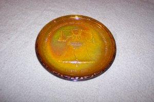 CARNIVAL GLASS LIBERTY BELL SAUCER